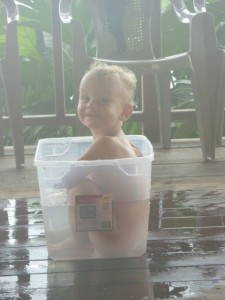 Ethan loves his swimming pool