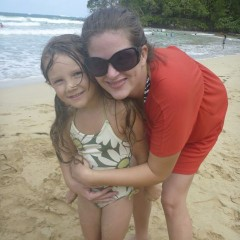 Bella and Alyssa at Red Frog Beach