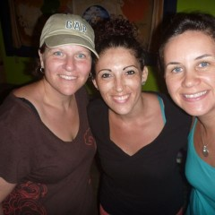 "Jen, Ashley and ti (that's ""me"" in Ngobe). ;)"