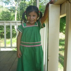 Karina, one of the cutest little Ngobe girls ever in her traditional Nagua dress.