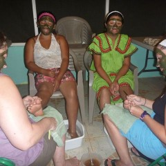 "While the masks worked their magic, Jen and Ashley pampered their feet.  We had long conversations about their lives, recent experiences and how God has changed them.  We also shared our ""best and worst"" DTS outreach experiences.  Good times. :)"
