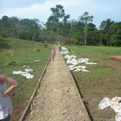 The S.A. team helped us out sooo much building the very long path to the main training building from the dock