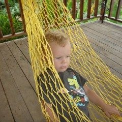 Ethan goes in to calm mode when in the hammock