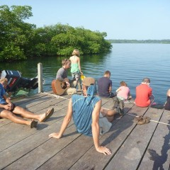 Worship time on the dock