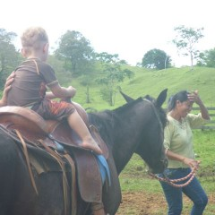 The woman leading the horse if Gene's wife, Aneth