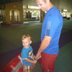 Ethan hitching a ride from Uncle Johann