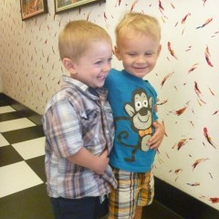 Two year old cousins